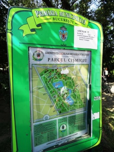 Çeşmeci Parkı Levhası
