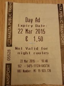 günlük otobüs bileti