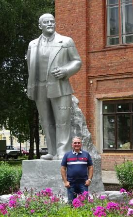 Goritsy'de V. I. Lenin Heykeli