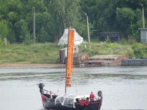 Yaroslavl'da tarihi bir tekne
