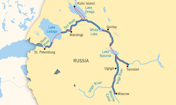 Russia River Map  Major Rivers in Russia  Maps of World