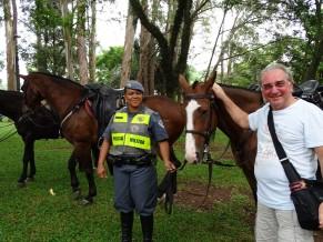 İbirapuera Parkı'nda Polis ve Atları