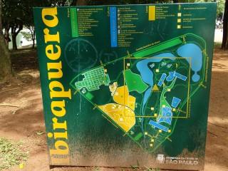 İbirapuera Parkı Levhası